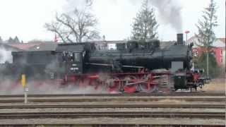 Download Dampflok 657.2770 (BR 57 /G10) der ÖGEG in Simbach am Inn /Ndb. · 26. Feb. 2012 Video