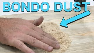Download Homemade Bondo Wood Glue Saw Dust Filler - Matthias Wandel Trick Video