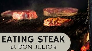Download Eating Steak in Buenos Aires at a fancy steakhouse (Don Julio) in Palermo Video