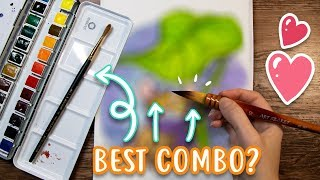 Download PERFECT COMBO? Testing Watercolor Art Supplies - Rembrandt Paints, Papers, Brushes Video