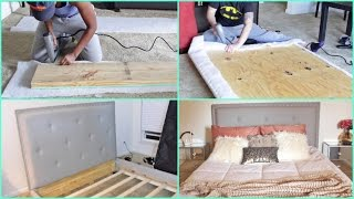 Download DIY | Building a Tufted Queen Size Bed From SCRATCH!!!! Video