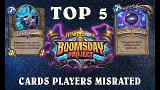 Download Hearthstone Quick Take: Top 5 Boomsday Cards Players Misrated Video