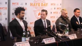 Download DAVID HAYE v MARK DE MORI - OFFICIAL PRESS CONFERENCE (FULL) - THE HAYMAKER RETURNS - JANUARY 16TH Video