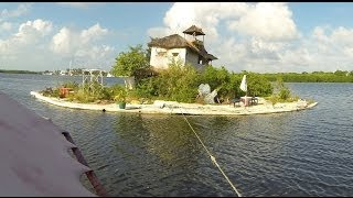 Download An Island made from plastic bottles by Richart Sowa Video