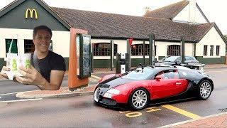 Download MCDONALD'S DRIVE THRU WITH A BUGATTI VEYRON!! Video