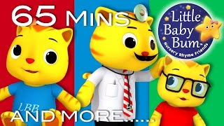 Download Five Little Kittens Jumping On The Bed | Plus More Nursery Rhymes | 65 Minutes by LittleBabyBum! Video