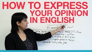 Download How to express your opinion in English Video