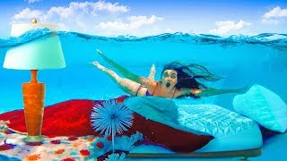 Download I Moved my Sisters Room Underwater (PRANK) Mattress in Pool! Video