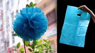 Download how to make flower from shopping bags Video