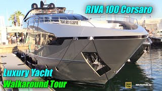 Download 2019 Riva 100 Luxury Yacht - Deck and Interior Walkaround - 2018 Cannes Yachting Festival Video