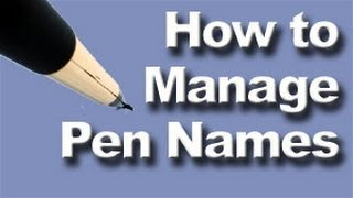 Download How to manage pen names for authors | Software, apps, and tips Video