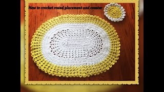 Download How to crochet oval placemat and coaster Video