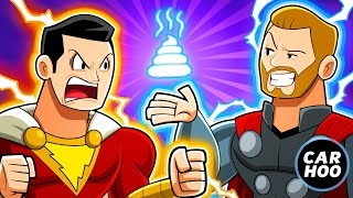 Download SHAZAM HATES THOR !!!!【DC Superheroes Parody】 Video