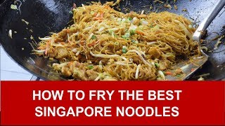 Download How to fry the best Singapore noodles (rice vermicelli) Video