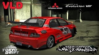 Download NFS Most Wanted - Mitsubishi Lancer EVO VIII TOKYO DRIFT (DOWNLOAD) Video