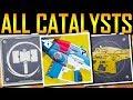 Download Destiny 2 - ALL 30 EXOTIC CATALYSTS! SECRET PERKS! Video