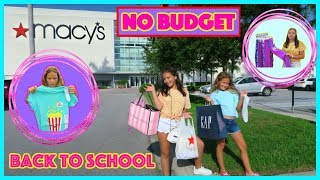 Download NO BUDGET BACK TO SCHOOL CLOTHING SHOPPING / JUSTICE/MACY'S/THE CHILDREN PLACE / TARGET Video
