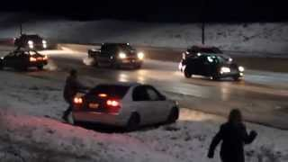 Download 15 car pile up on whoop up bridge Lethbridge Video
