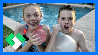 Download AMAZING WATER WUBBLE WATER BALLOON BALLS! (Day 1846) Video
