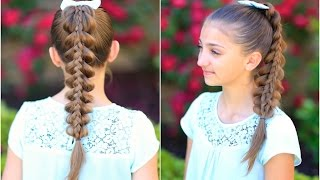 Download Stacked Pull-Thru Braid | Cute Girls Hairstyles Video
