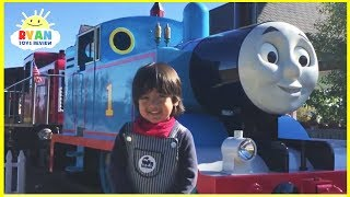 Download Ryan meets Giant Real Life Thomas and Friends Trains at ThomasLand Amusement Park Video