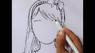 Download Bé tập vẽ- chân dung cô gái 1 Video