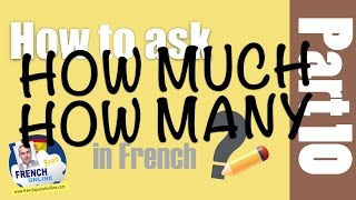 Download how much in French - how many in French Video