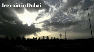 Download Thunderstorm and freezing rain in Dubai 24.03.2017 Video