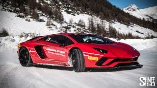 Download SNOW DRIFTS in the Lamborghini Aventador S! Video