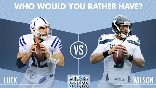 Download Andrew Luck or Russell Wilson: Which QB is Better? | Move the Sticks | NFL Video