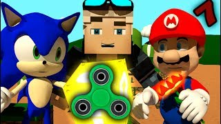 Download SONIC IN MINECRAFT 7 Ft. FIDGET SPINNERS Super Mario! [3D MINECRAFT ANIMATION] Video