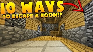 Download 10 WAYS TO ESCAPE A ROOM IN MINECRAFT!? Video