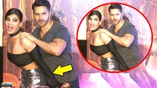 Download Jacqueline Gets NAUGHTY With Varun Dhawan At Dishoom Trailer Launch Video