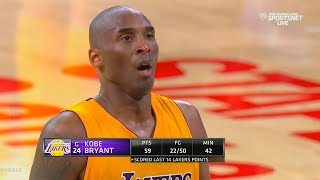 Download Kobe Bryant's Last Game In The NBA Shocks The Entire Lakers Crowd! Video