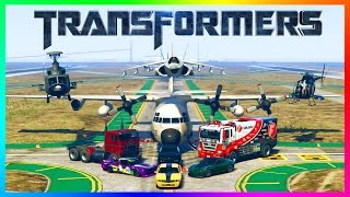 Download GTA ONLINE TRANSFORMERS CYBER MONDAY 2016 FREEMODE SPECIAL - OPTIMUS PRIME, BUMBLEBEE & MORE CARS! Video