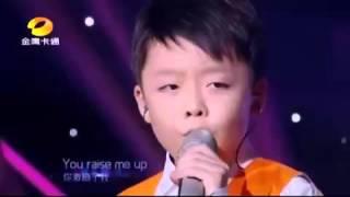 Download anak kecil suara emas bikin merinding dengan lagu YOU RAISE ME UP Video