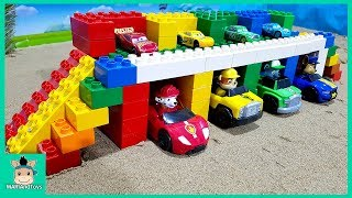 Download Cars toy videos for Children. Building bridge with truck, excavator. Songs for Kids | MariAndToys Video