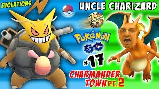 Download UNCLE CHARIZARD! Pokemon Go CRAZY Evolutions in CHARMANDER TOWN pt. 2 (FGTEEV Part 17) Video