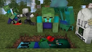 Download Monster School : RIP Zombie Girl | Zombie Life 7 - Minecraft Animation Video