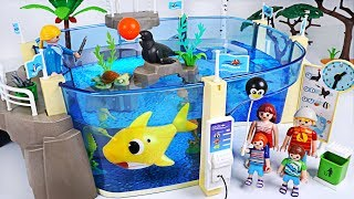 Download Let's go to Playmobil Family Fun Aquarium with Sea! Baby Shark, Nemo is playing! - PinkyPopTOY Video