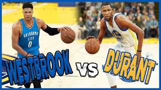 Download RUSSELL WESTBROOK VS KEVIN DURANT! WHO WINS?? - NBA 2K17 Gameplay Video