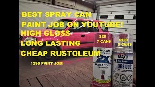 Download Spray painting my wife's ENTIRE CAR WITH SPRAY CAN PAINT! Video
