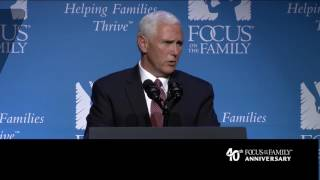 Download Vice President Mike Pence's Colorado Springs speech at Focus on the Family Video
