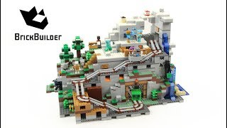 Download Lego Minecraft 21137 The Mountain Cave - Lego Speed Build Video