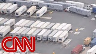 Download Thousands of containers with supplies sitting on Puerto Rico dock Video