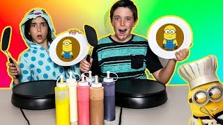 Download PANCAKE ART CHALLENGE!! - MINIONS EDITION Video