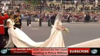 Download Kate arrival for her royal wedding to Prince William [Correct-worlds-info.co.cc] Video