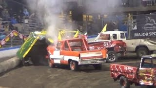 Download Smash Bash Demo derby in Lewiston May 2014 Full size truck heat Video