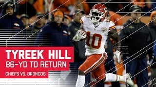 Download Tyreek Hill's 86-Yard TD & Goal Line High Five! | Chiefs vs. Broncos | NFL Video
