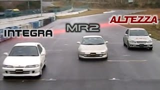Download [ENG CC] Integra Type R vs. MR2 G Limited vs. Altezza RS200 Ebisu HV36 Video